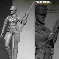 1/35 Model Resin Figure Modern Female soldier Unpainted New Gift DIY M4H0