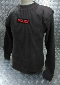 Genuine Obsolete Trinidad & Tobago Police Issue Commando Jumper Wool Crew Neck
