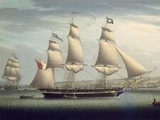 ROBERT SALMON AMERICAN SHIP FAVORITE MANEUVERING GREENOCK ARTWORK PRINT BB6330A