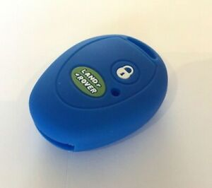 BLUE LAND ROVER DISCOVERY 2 SILICONE KEY FOB COVER
