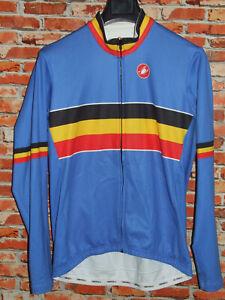 Bike Cycling Jersey Maillot Shirt Cyclism Belgium Wintry Castelli Size XXL