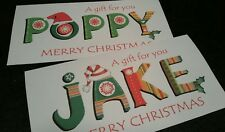 PERSONALISED *NAME* CHRISTMAS GIFT CARD/MONEY WALLET - ANY NAME/MESSAGE