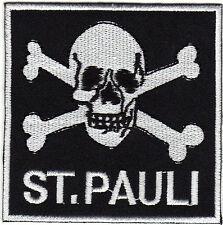 Aufnäher Bügelbild Iron on Patches Skull St. Pauli Hamburg Szene Kult (a3q2)