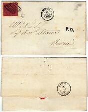 295 - Antichi Stati, Pontificio - 20 cent n° 27 su lettera da Roma a Narni, 1868