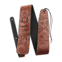 Adjustable Soft Leather Strap For Electric Acoustic Guitar Bass Parts Brown