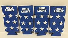 Bud Light Lot of (4) American Flag Can Koozies Coozies - Brand New!
