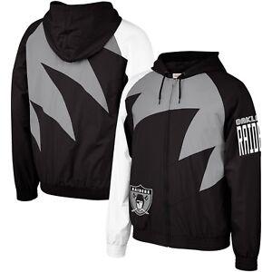 Authentic NFL Oakland Raiders Mitchell & Ness Shark Tooth Full-Zip Jacket Black