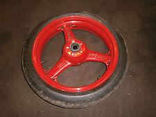 KAWASKI ZX-6 R ZX6R G/J 1998-00 front wheel hub & tyre 120 70 zr17