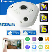 360 Degree 1080P Fisheye Panoramic Security IP Cameras WiFi Wireless 3D Cam LOT