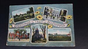 Southampton Multiscene - C.J. Bealing Real Photo Postcard