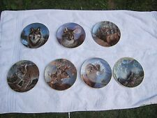 Portraits of Wild Plates Set of 7 By Hamilton Collection with Coa and boxes