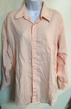 Roberto Villini Peach Long Sleeve  Button Down Dress Shirt Size 15.5 32/33