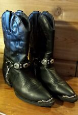 Vtg Dingo Biker Motorcycle Harley Western Concho Riding Boots Womens Girls 4.5 D