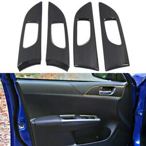 For Subaru WRX/STi 2008-2014 Carbon Black Inner Door Handle Bowl Cover Trim 4PCS