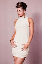 Figurbetontes Kleid MINIKLEID mit KragenI   Ecru