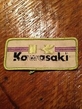 Vintage Kawasaki patch sew on 70s Motorcycle Biker Bobber Chopper Rat Rod Atv