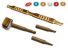 Sujok Acupressure Metal Mini Roller & Mega Compact Probe Jimmys (2 Types) +Rings