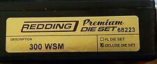 68223 REDDING 3-DIE PREMIUM DELUXE BOTTLE NECK SET - 300 WSM - BRAND NEW