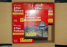 Wholesale Case of 4 Malibu 8301-9200-01 Metal Tier Lights, Black NEW!