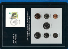 Coin Sets of All Nations Great Britain UNC 1988-89 1£, 2, 20, 50 pence 1989