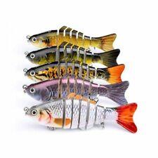 New 6 Segment Minnow Swimbait Lures Crank baits Baits Hard Bait Fishing Lures