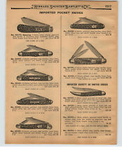 1927 PAPER AD Imported Society Switch Blade Pocket Knife Knives