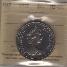 1978 Canada One Dollar Coin. ICCS MS-65 Bri. GEM UNC