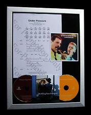 DAVID BOWIE Under Pressure LTD MUSIC CD QUALITY FRAMED DISPLAY+FAST GLOBAL SHIP