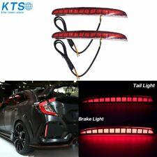 For Honda Civic Hatchback 2016-19 Sequential Reflector LED Brake Light Fog Lamp