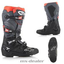 2021 Alpinestars Tech7 Tech 7 Enduro Cross Stiefel Grau Orange Boots Motocross