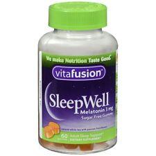 Vitafusion Sleepwell Mélatonine 3 MG sans Sucre Gummies - 60 Chaque (2 Paquets)