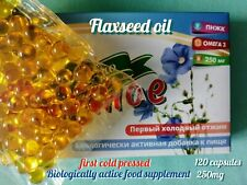 120 capsules, 250mg,flaxseed oil,first cold pressed,omega-3,6