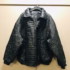 Desert Well Leather Coat 6XL Egyptian Print On Back