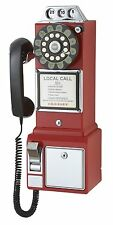 Crosley 1950's Classic Pay Phone - Red CR56-RE New