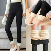 Winter Women Warm Velvet Pants Skinny Thick Wool Fleece Trousers Casual Leggings