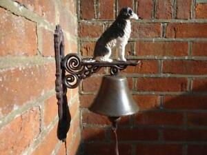 Cast Iron Border Collie Bell New