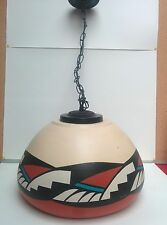 Southwest Pendant Light Lamp Chandelier Hand Painted Native Arizona