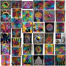 Multicolour Cotton Mandala Wall Hanging Tapestry Poster Boho Meditation Yoga Mat