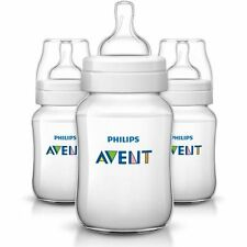 Philips Avent Classic+ Anti-Colic Clear 9oz Baby Bottles, BPA-Free, 3pk