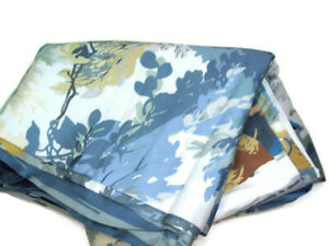 Williams Sonoma Home Organic Cotton Willow Glen Crane Bird King Duvet Cover New