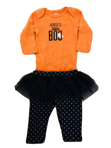 Carter's Baby Girl One-piece Auntie's Little Boo Bodysuit Halloween