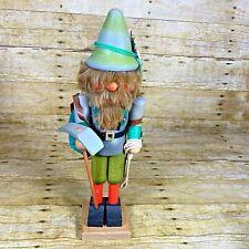 "Mountain Climber Vintage 16"" Nutcracker Christmas Handmade West Germany"