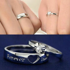 Couple Ring Set Personalized Unique Ring Solid 925 Sterling Silver Promise Rings