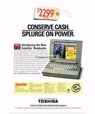 1995 TOSHIBA Satellite T22110CS Notebook Computer Portable Laptop Vtg Print Ad