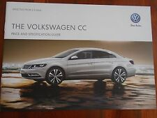 VW CC price and specification guide brochure May 2013