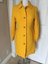NWT J.Crew P8 petite double-cloth lady day coat yellow