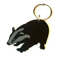 Badger Keyring Lanyard Keychain Bag Charm Zipper Charm Gift In Black
