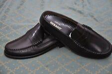 SEBAGO mens Finest Black polished Leather loafer shoes size 9E