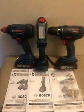 Bosch 18V Hammer Drill , Impact and Flashlight 3-Tool Combo Kit