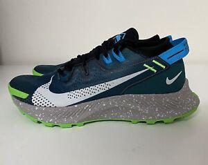 Nike Pegasus Trail 2 Dark Teal Green Silver Mens Sz 6.5/ Women's Sz 8 CK4305-300